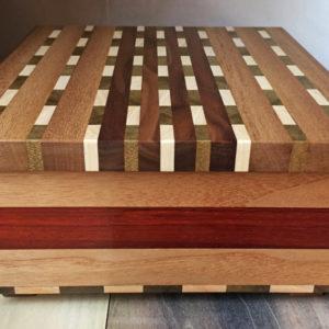 Handmade geometric wood box