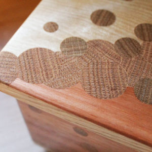 Handcrafted wood valet or keepsake box